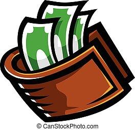 Wallet Money vector icon