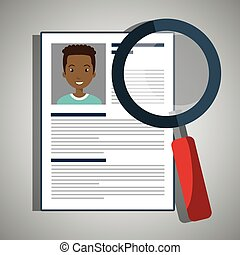 search curriculum cv man vector illustration graphic
