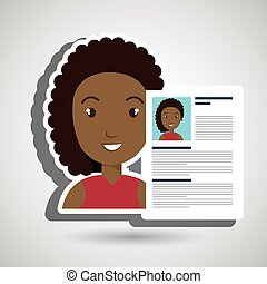 cv resume woman icon vector illustration graphic
