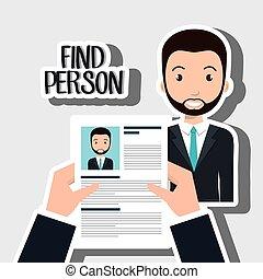 find person man hand