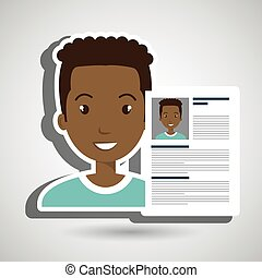cv resume man icon vector illustration graphic
