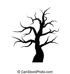 vector of tree silhouette