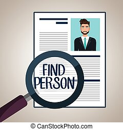 choose find cv man vector illustration graphic