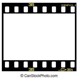 diapositiva, película, marco