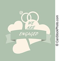 engagement card - vector wedding or engagement