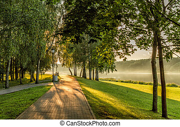 Trees by the river - Lithuanian landscape come the fall when...