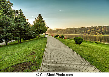 Path by the river - Lithuanian landscape come the fall when...
