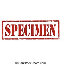 Specimen-red stamp - Grunge rubber stamp with text...