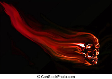 Skull background ready for your design work