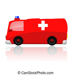 Ambulance car isolated on white background