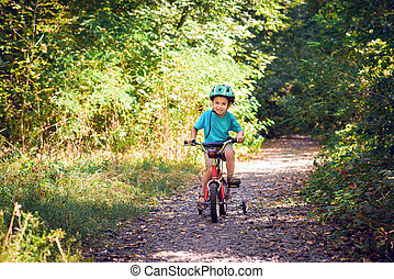Child riding a bicycle