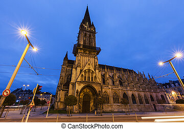 St Peter's Church in Caen. Caen, Normandy, France.