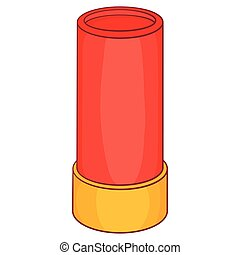 Shotgun shell icon,cartoon style - Shotgun shell icon in...