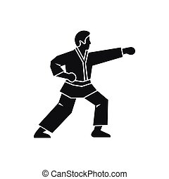 Aikido fighter icon, simple style - Aikido fighter icon in...