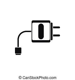 Mini charger icon, simple style - Mini charger icon in...