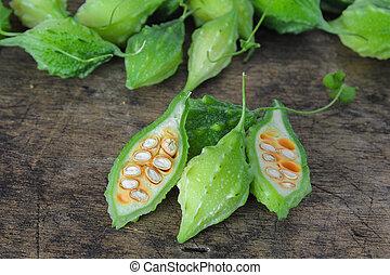 green bitter gourds