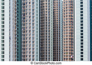 Skyscraper facade of multistory