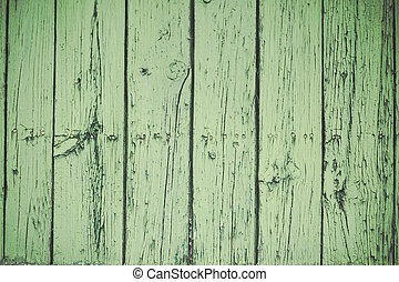 Background old green wood boards