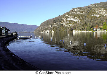 Annecy lake at Talloires, France - Landscape of Annecy lake...