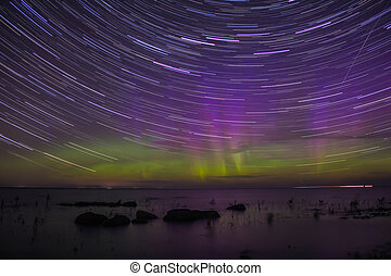 Northern Lights on Lake Ladoga, Len - the September aurora...