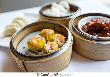 Steamed chinese dim sum
