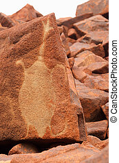 Deep Gorge petroglyph - Aboriginal rock petroglyph in Deep...