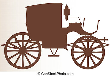 Old Brown Carriage - A typical Victorian or Georgian style...