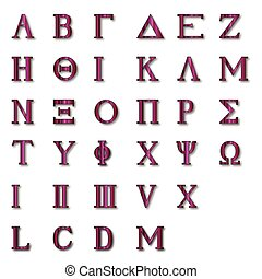 Isolated Greek Alphabet - The letters of the Greek alphabet...
