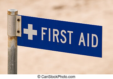 First Aid Sign - Royalty free stock photo of a first aid...