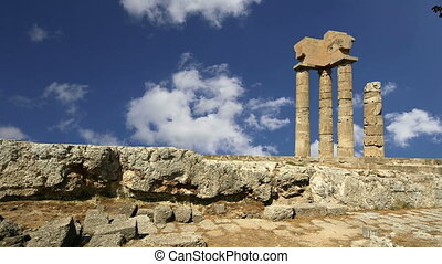 Apollo TempleRhodes, Greece - Apollo Temple at the Acropolis...