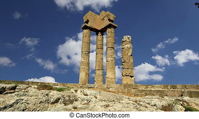 Apollo Temple.Rhodes, Greece - Apollo Temple at the...