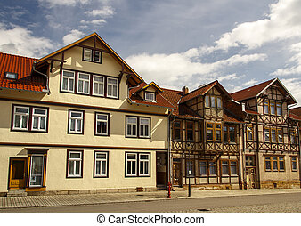 Inner city of Roemhild, Germany, 2016 - Buildings in the...