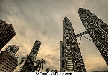 Petronas Twin Towers - Famous Malaysia landmark, Petronas...
