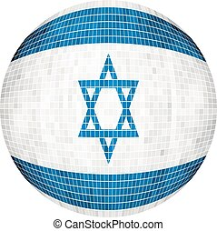 Ball with Israel flag - Illustration, Sphere Israel Flag...