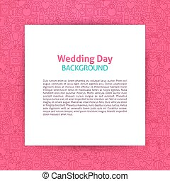 Wedding Day Paper Template. Vector Illustration of Paper...