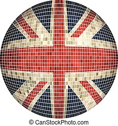 Ball with Great Britain flag