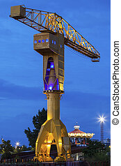 Titan crane in Nantes - Titan crane on Island of Nantes....