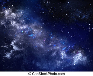 starry night sky deep outer space