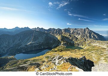 High Tatra Mountains seen from Kozi Wierch Peak, Poland.