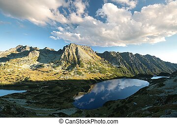 Tatra Mountains - Valley of Five Polish Ponds at dawn, Tatra...