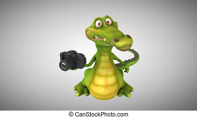 Fun crocodile - 3D animation