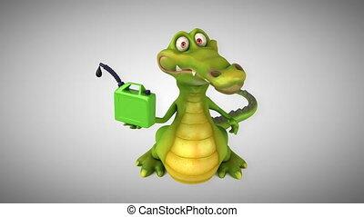 Fun crocodile - 3D animation
