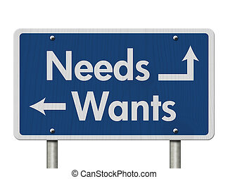 Difference between Needs and Wants