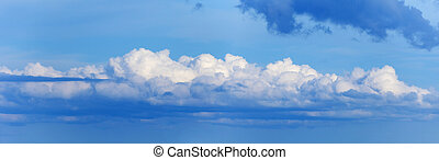 Long cloud in sky - panoramic photo - Long a cloud in the...