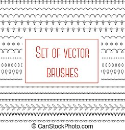 Set of simple brushes - Vector set of simple brushes