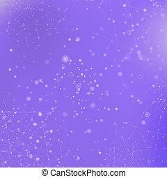 Purple Technology Background with Particle