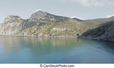 View of Blue bay and mount Karaul-Oba. Mountains in Crimea...