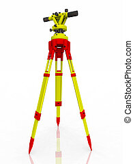 Transit theodolite - Computer generated 3D illustration with...