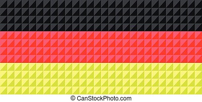 German national flag colors composed from triangles.