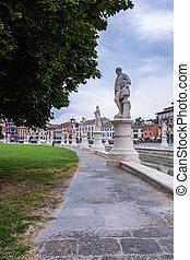 Piazza of Prato della Valle, Padova, Italy